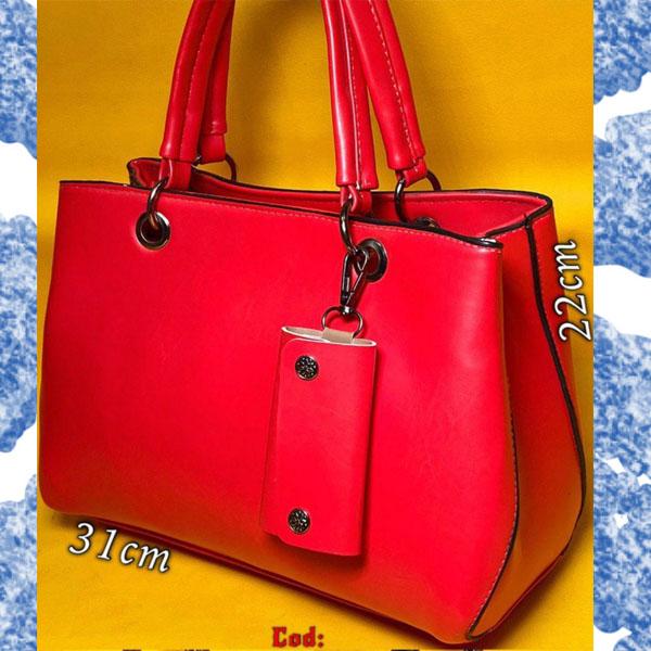 کیف چرمی قرمز